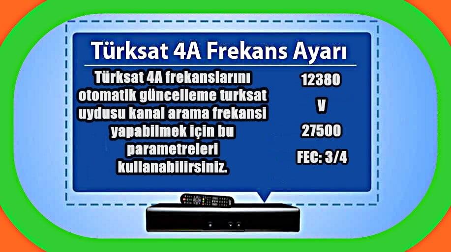 Türksat A.Ş. hizmet kalitesinin artırılması kapsamında gerçekleştirilen çalışmalar neticesinde, mevcut şebeke arama frekanslarına (Türkiye ve Batı kapsama alanı için 12380 V SR:27500 Türkiye ve Doğu kapsama alanı için 12423 H SR:30000) yeni frekanslar eklendi.
