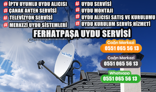 Ferhatpaşauydu servisi Uyducu uydu anten tv tamircisi televizyon servisi merkezi uydu sistemi iptv alanında Ferhatpaşauyducu – uydu Servisi hizmeti veren usta arıyorsanız hemen yukarıdaki telefon numarası arayarak